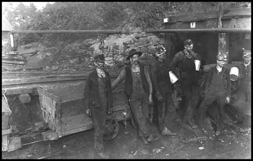 Group of Miners - Macdonald - West Virginia - 1908