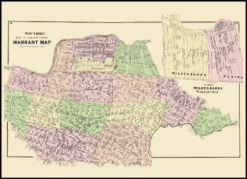 Southern Luzerne County Warrant Map